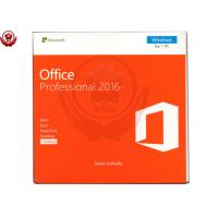 Buy cheap Office 2016 pro plus 1 DVD + 1 Key Card Retail Version software from wholesalers