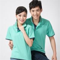 Buy cheap Summer short sleeve mesh Polo Shirt cuffs contrast Two-tone Hem Splicing from wholesalers