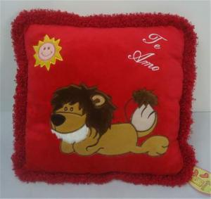 China Cartoon Lion Square Soft Cushion on sale