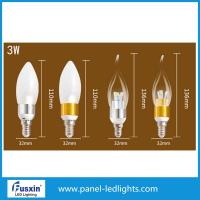 China 3 W Glass Shape Led Candle Lights / E14 Chandelier Led Candle Lamp CE on sale