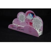 China Cosmetic Organizer Countertop Eyeshadow Display Stand Printing Pink Cartoon Logo wholesale