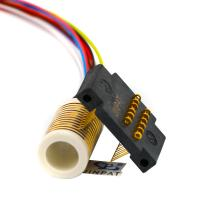 China CE 12 Circuits Electrical Swivel Connector Slip Ring With Large Insulation Resistance wholesale