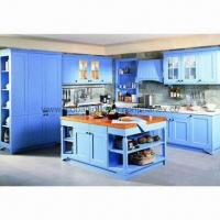 China Frosted Two-side UV Painting Board Kitchen Cabinet/Integrated Kitchen Cabinet with Adjustable Shelf wholesale