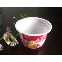 China 250ml White Disposable Ice Cream Cups Eco Friendly For Salad PET on sale