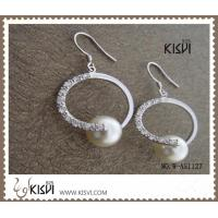China OEM / ODM 925 fashion sterling silver gemstone earrings with immitation pearl W-AS1127 wholesale