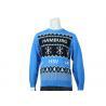 China Blue Jacquard Spring Man Ugly Christmas Sweatshirt UK Style 7GG Knitwear wholesale