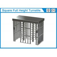 Buy cheap Square Full Height Security Turnstile Gate 1.5mm Thickness With Two Card Reader from wholesalers