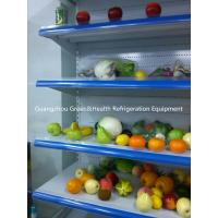 China Fruit Display Multideck Open Chiller Fortified Wheels With Night Curtain wholesale