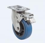 China SUS304 Stainless Steel PU Caster Wheel Heavy Duty Dual Ball Heat Treated Raceways wholesale