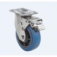 Buy cheap SUS304 Stainless Steel PU Caster Wheel Heavy Duty Dual Ball Heat Treated from wholesalers