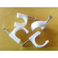 China PE Material Round Nail Cable Clip Fasteners for Indoor & Outdoor Wiring 100 pcs / bag wholesale
