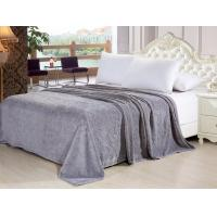 China Polyester Soft Solid Grey Color Flannel Fleece Blanket For Sofa / Bedding / Throws wholesale