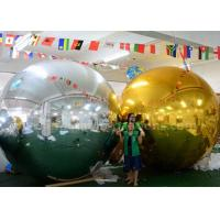 China 3m Inflatable Advertising Balloons Christmas Mirror Ball Silver / Gold Color wholesale