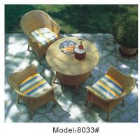 China 4-piece resin wicker rattan outdoor patio dining set in beige-8033 wholesale