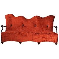 China Nordic Leisure Wave Shape Two Seat Hotel Room Sofa Colorful  Fabric Wooden Frame wholesale