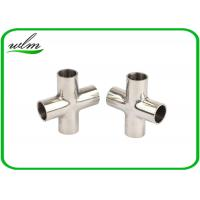 China Mirror Polishing Sanitary Pipe Fittings Cross Pipe Fittings For Pharmaceutical Engineering wholesale