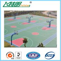 China Environmental Outdoor Athletic Court Polyurethane Sports Flooring Green on sale