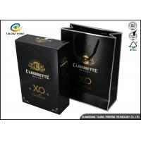 China Drawer Type Paper Wine Box Excellent Scratch Resistance For Hennessy X.O wholesale