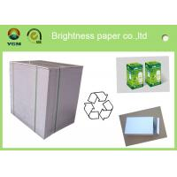 China Wood Pulp White Coated Grey Back Duplex Board For Packing 230gsm - 450gsm wholesale