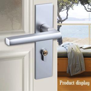 China Indoor Space Aluminum Metal Door Lock Bedroom Connected Door Handle Lock on sale