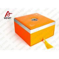 Orange Printing Tote Customized Paper Box Cardboard Gift Packaging Use