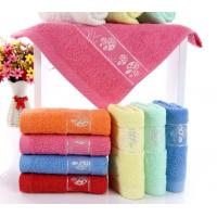 China Cheap soft cotton terry towel face towel wholesale on sale