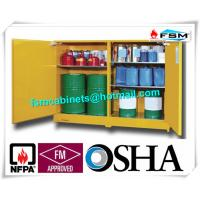 China 120 Gallon Yellow Drum Storage Cabinets With Removable Roller For Oil Paint wholesale