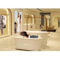China Beautiful White Color Retail Clothing Fixtures For Lady Clothing Display wholesale