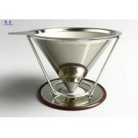 China Reusable Pour Over Coffee Filter Stainless Steel Stable V Style Dripper on sale