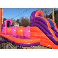 China Huge Inflatable Sports Games / Inflatable Wipeout Course With Big Balls wholesale