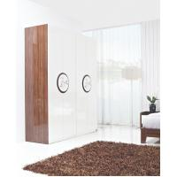 China New Design Melamine Material Modern bedroom Custom wardrobe in fashion handle with Open door wholesale