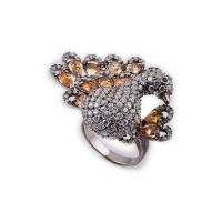 Quality OEM / ODM Custom Design Diamond Animal Jewelry Animal Ring With Zircon for sale
