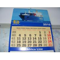 China Foldable Full Color Personalized Calendar Printing , Coated Paper Table Calendar Printing on sale