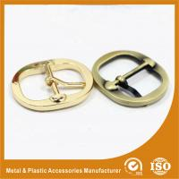 China Round Metal Shoe Buckles / Pin Replacement Buckles For Shoes Or Handbag wholesale