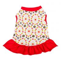 China red dog dresses summer / chinese dog clothes / dog party dresses wholesale