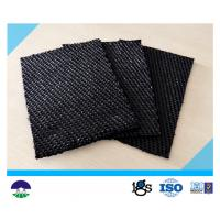 China 80 / 80kN Black Dewatering Woven Monofilament Geotextile High - Tenacity wholesale
