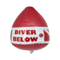 China Red Scuba Marker Buoy Lightweight , PVC Inflatable Marker Buoy Wear Resistance on sale