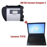 Quality 2018.7V Wireless MB SD C4 Mercedes Diagnostic Tool With I5 CPU 4G RAM Lenovo T410 for sale