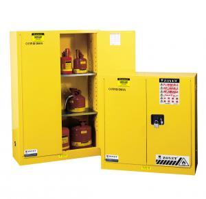 Quality Flammable Liquid Storage Cabinet, fireproof safety storage cabinets, yellow cabinetst for sale