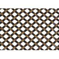 China Decorative Flat Wire Mesh Screen Cabinets Nonpoisonous Convenient Handling wholesale