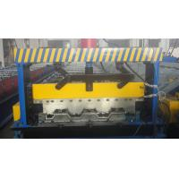 China Galvanized Steel Floor Deck Roll Forming Machine With Coiler Car ,  Floor Tile Making Machine wholesale