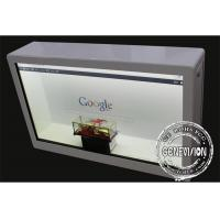 China 55 Inch Android Remote Control Transparent Display Box Flexible Advertising Equipment wholesale