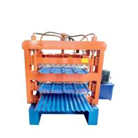 China Three layer corrugated roof tile roll forming machine/aluminum metal roofing sheet making machine on sale