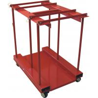 China Mobile 8 In 1 Gas Cylinder Caddy With Polypropylene Casters Powder Coated wholesale