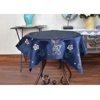 China Unique Square Decorative Table Cloths Chemical Fiber Multiple Colors Embroidered wholesale