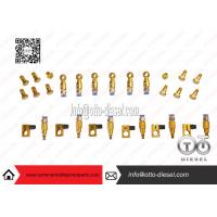 China Aviation Aluminum Injector Backflow Connector Golden For Bosch / Denso JY05 wholesale