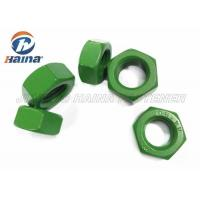 Quality Teflon Finish Anti Corrosion Hex Head Nuts , DIN934 stainless steel fasteners Green Whitford Teflon for sale