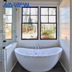 China NAVIEW Energy Saving Twin Aluminium Single Hung Window wholesale