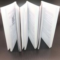 Buy cheap Thick Adhesive Binding Saddle Stitched Booklet With Black / White Colour from wholesalers