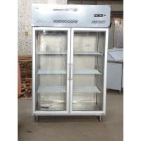 China Stainless Steel Commercial Stand Up Freezer For Chicken With 2 / 4 / 6 Glass Doors wholesale